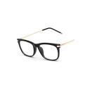 Retro Color Block Fashion Glasses Frame for Unisex