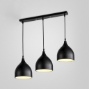 Industrial Style Triple Light Multi-light Pendant with Aluminum Shade