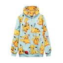 Cute Cartoon Print Long Sleeve Loose Oversize Women's Hoodie
