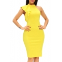 Women's Sleeveless Pencil Party Club Midi Dress