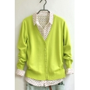 Womens Long Sleeve Button Down Classic Knit Cardigan Sweater
