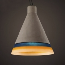 Cone Shape Cement and Resin 15'' W Indoor Hanging Light