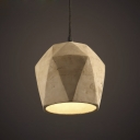 Industrial Style Cement Indoor Mini Hanging Pendant