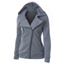 Women's Winter Full Zip Up Fleeces Hooded Sweatshirt Hoodie Jacket