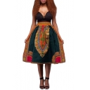 Women's Vintage Tribal Skirt Floral Dashiki