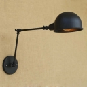 Industrial Single Light Rotatable Wall Light for Study