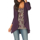 Women's Solid Color Basic Casual Open Front Cardigan