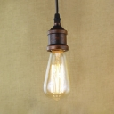 Single Bulb Style Antique Copper Finished Hanging Pendant