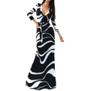 Women's Sexy Ladies Deep V Neck Party Dress Maxi Long Evening Dress