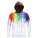 Sweatshirt Paint Drip Hoodie Pullover Plus Size Long Sleeve Shirt