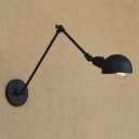 Metal Shade Industrial One Light Traditional Wall Sconce for Study