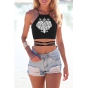 Women's Teens Girls Juniors Halterneck Sexy Vest Crop Top