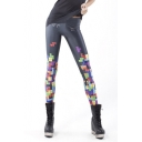 Womens 3D Digital Print Stretch Summer Ankle Length Leggings