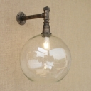 Rustic Single Light Indoor Wall Light with 11.81