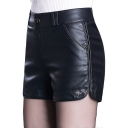 Women's Fashion Sexy High Waist Leather PU Shorts