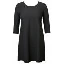 Women's 3/4 Sleeve Flare Hem Tunic and Long Sleeve Plain Dress