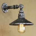 Industrial Antique Silver Metal Pipe Designed Wall Sconce Restaurant Lighting Fixture
