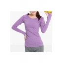 Popular Raglan Long Sleeve Plain Sport Yoga T-Shirt Top