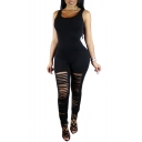 Women Spaghetti Strap Bodycon Tank One Piece Jumpsuits Rompers Playsuit