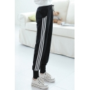 Women's Plus Size Side Stripe Sport Knit Pants
