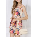 Summer Pleated Print Blossom Reversible Skater Dress