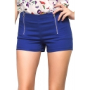 Women's Lightweight Mid Waisted Nautical Sailor Shorts