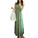 Women's Sleeveless Chiffon Summer Beach Strap Maxi Long Dress