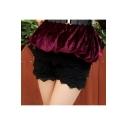 Women's Fashion Lace Crochet Layered Shorts
