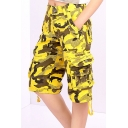 Fashion Outdoor Camouflage Color Block Short Pants