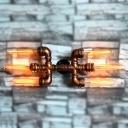 Six Light Vintage Novel Metal Pipe Wall Light Industrial Decorative Sconces for Bars