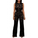 Women's Sexy Lace Crochet Cut out Hollow out Sleeveless Clubwear Romper Jumpsuit