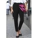 Women's Oversize Drawstring Waist Plain Casual Tapered Pants