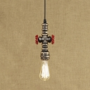 Valve Accent Rustic Loge Pipe Style Hanging Lamp Industrial Ceiling Fixture