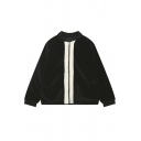 Women's Fashion Color Block Patched Back Oversize Casual Coat