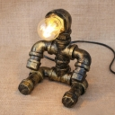 Industrial Novel Table Light Art Decor in Pipe Design