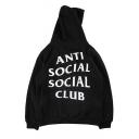 New Hooded ANTI SOCIAL SOCIAL CLUB Letter Printed Hoodie Sweatshirt with One Pocket