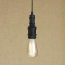 Mini Sized Single Light Industrial Indoor Pendant in Black/Brass/Bronze/Silver Finish