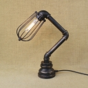 Restoration Rustic 1-Light Novel Tabel Light Decorative Lighting Fixture with Wire Cage