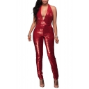 Women's Sexy Cocktail Club Bodycon One Piece Sequin Jumpsuit Romper