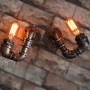 Industrial Antique Bronze Light Wall Sconce Rustic Hallway Lighting - Pack of 2