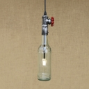 Single Light Industrial Novell Pendant Bottle Shaped Ceiling Fixture with LED Lamp
