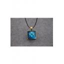 Chic Galaxy Pyramid Luminous Pendant Necklace