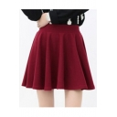 Women's High Rise A-Line Plain Pleated Mini Skirt