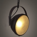 Industrial Style Matte Black 1 Light Close to Ceiling Light