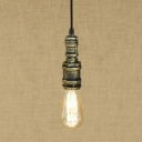 Vintage Lodge Industrial Pendant in Aged Bronze Finish