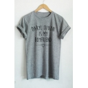 DARYL DIXON IS MY Letter Printed Short Sleeve Round Neck Tee