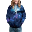 Hot Fashion Digital Galaxy Printed Long Sleeve Baseball Hoodie for Couple