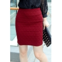 Women's High Rise Solid Color Fashion Mini Wrap Skirt