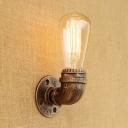 Burnished Brass Finish Single Light Indoor Wall Light