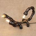 Industrial Retro Pipe Designed Antique Bronze Table Light in Scorpion Shape